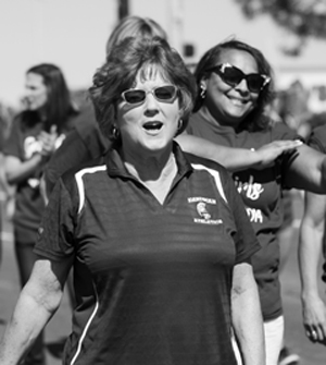 d5c635dfe RETIRING BOARDMAN HIGH SCHOOL ATHLETIC DIRECTOR Denise Gorski, accompanied  by a host of former athletes she coached as head coach of Lady Spartan  track and ...